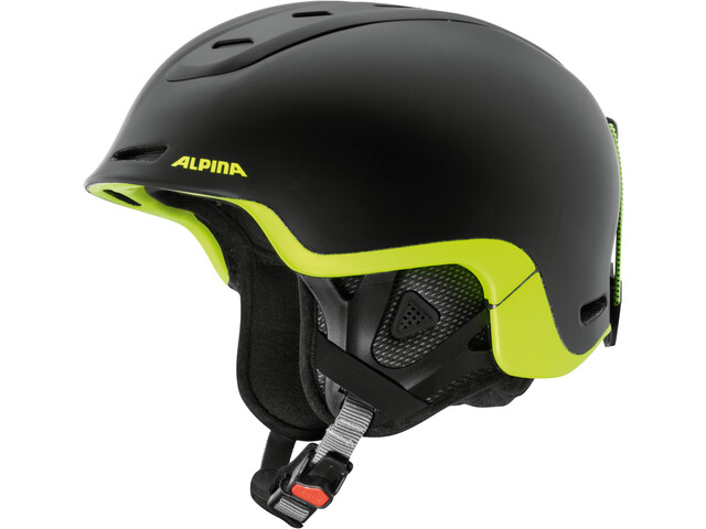 Alpina Spine Ski Helmet black-neon-yellow matt